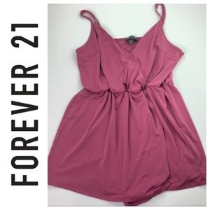Forever 21 Pink Wrap Surplice Romper Size 0X